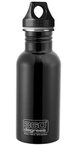 360° degrees Stainless - Gourde - 550ml noir